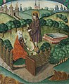 Christ appears to Mary Magdalen as a gardener (Noli me tangere) (f. 134v) Cropped.jpg