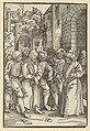 Christ before Pilate in front of his Palace, from Speculum passionis domini nostri Ihesu Christi MET DP848957.jpg
