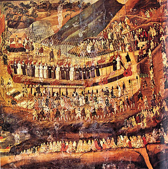 26 Martyrs of Japan - The Christian martyrs of Nagasaki. 16-17th-century Japanese painting.