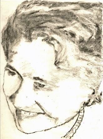 Christianna Brand - Pencil sketch of Christianna Brand