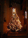 Christmas tree at St Johns East Dulwich in the dark, 2005.jpg