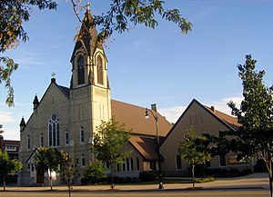 James J. Egan - Image: Church of St. Thomas the Apostle, W. View, 822 E. Grand Ave, Beloit, WI