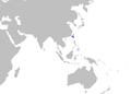 Cirrhoscyllium formosanum distmap.png