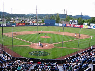 Civic Stadium (Eugene, Oregon) - Emeralds game in July 2004