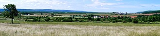 Annapolis Valley - Central Valley. Looking west southwest across the expansive farms in Clarence, Annapolis Valley, Nova Scotia