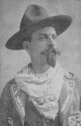 Clark Stanley - Stanley as depicted on the cover of his book 'The Life and Adventures of the American Cow-Boy. Life in the Far West by Clark Stanley, Better Known as the Rattle-Snake King