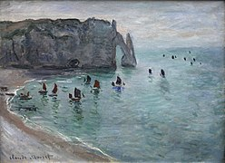 Claude Monet-Etretat the Aval door fishing boats leaving the harbour mg 1819.jpg