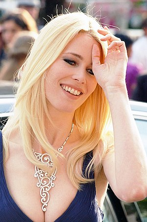 Claudia Schiffer at the Cannes film festival