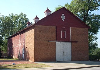 Clemson, South Carolina - Image: Clemson College Sheep Barn, S. Palmetto Blvd., Clemson (Pickens County, South Carolina)