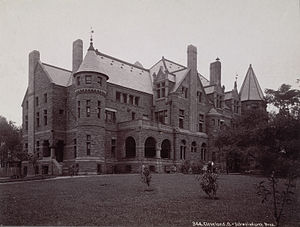 Euclid Avenue (Cleveland) - Sylvester T. Everett mansion on Euclid Avenue (since demolished), designed by Charles F. Schweinfurth
