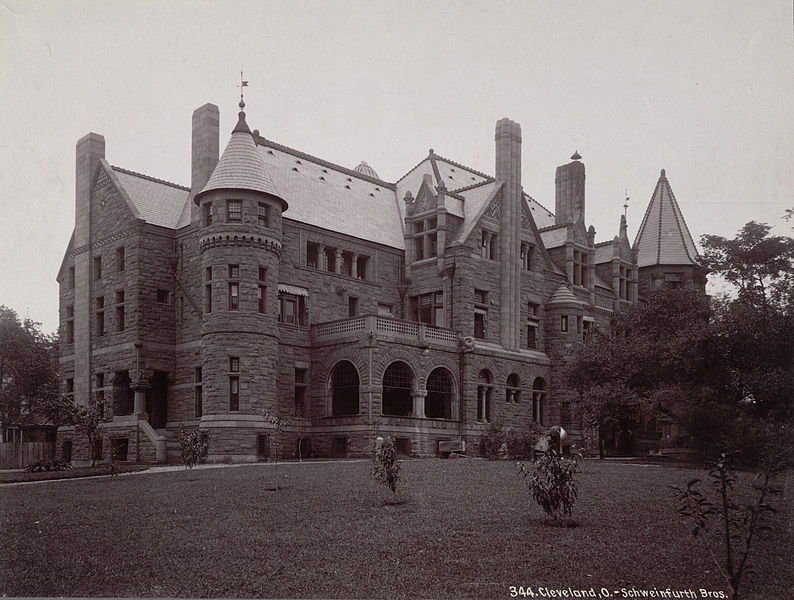 Sylvester T. Everett mansion on Euclid Avenue (since demolished) Schweinfurth ca. 1885-1895, courtesy of Cornell University Library