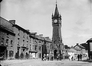 Machynlleth - Machynlleth Clock tower, circa 1885.