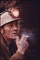 Closeup of Doren Bishop, Robin Mines Superintendent for the Alma Coal Corporation, Ponders the Work That Must Be Done to Start a New Mine near Clothier and Madison, West Virginia 04-1974 (3907206388).jpg