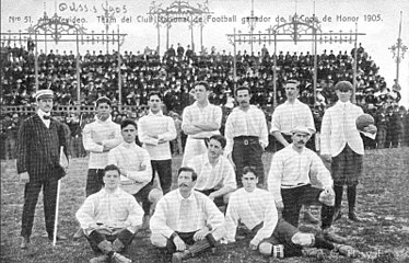 Nacional in 1905. That squad won the Copa de Honor Cousenier defeating legendary Argentine team Alumni. Club Nacional Football 1905.jpg