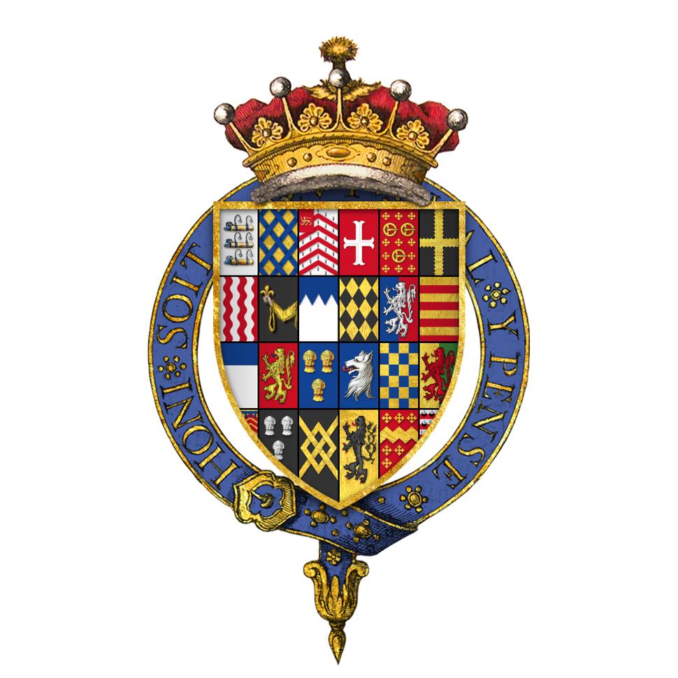 Coat of arms of Sir Robert Bertie, 1st Earl of Lindsey, KG