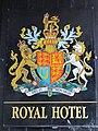 Coat of arms on the Royal Hotel, Priestpopple - geograph.org.uk - 2271811.jpg