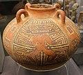 Coclé (panama), vaso in stile macaracas, con divinità o alligatore, 850-1100 dc ca. 01.jpg