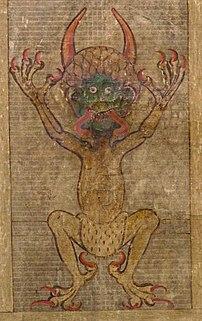 Satan as seen in Codex Gigas.