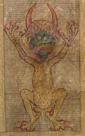 Devil in Christianity - Depiction of the Devil in the Codex Gigas.