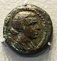 Coin of Kleopatra VII, obverse, draped bust of Kleopatra VII, Alexandria, 51-31 BC, bronze - Arthur M. Sackler Museum, Harvard University - DSC01465.jpg