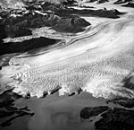 Columbia Glacier, Terentiev Lake, Calving Terminus and Distributaries, August 12, 1961 (GLACIERS 1088).jpg