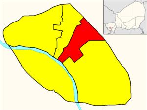Commune III (Niamey) - Image: Commune III (Niamey Map)
