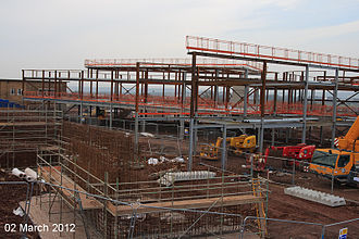 Ormiston Horizon Academy - Construction of the new academy building as of March 2012