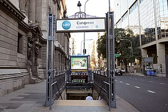 Congreso (Buenos Aires Underground) - Image: Congreso GCBA(5)