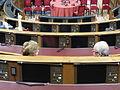 Congreso de los diputados, asientos de los diputados, Madrid, España, 2015 08.JPG