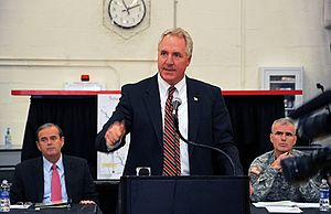 John Shimkus - Congressman John Shimkus speaks at Southern Illinois Levee Summit regarding the importance of flood risk management and regional levee concerns with Congressman Jerry Costello and Army Corps of Engineers, St. Louis District official