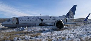 Continental Airlines Flight 1404 wreckage.jpg