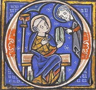 Initial - A historiated illuminated initial