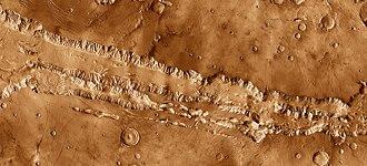 Coprates Chasma - Image: Coprates Chasma THEMIS mosaic 0.5