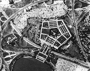 Boundary Channel - Corona image of The Pentagon and part of the Lagoon, 25 September 1967