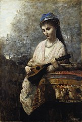 Young Girl with a Mandolin