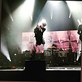 Corrie performing with Franz Ferdinand in Caen, 2018.jpg