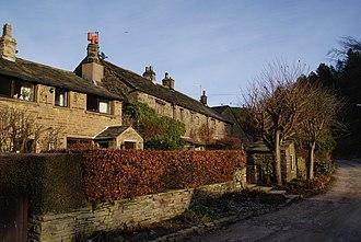 Hurstwood - Image: Cottages, Hurstwood