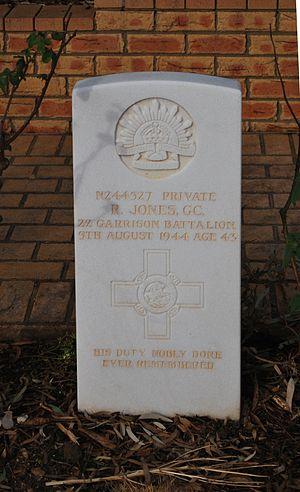Ralph Jones (GC) - Gravestone at Cowra War Cemetery