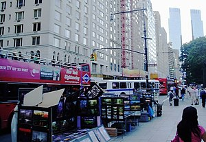 59th Street (Manhattan) - Looking west along Central Park South