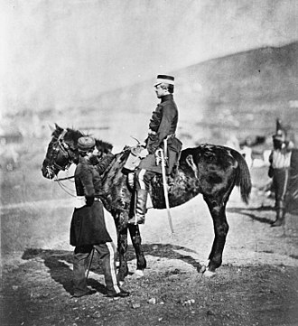 Lord George Paget - George Paget (horsed) with Lieutenant Colonel John Douglas (standing) during the Crimean War