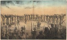 Crocifissione di cristiani a Nagasaki nel 1597.