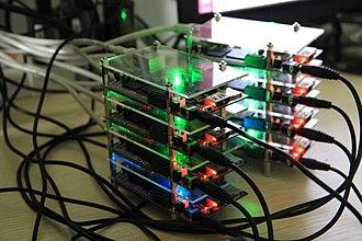 Cubieboard - A Cubieboard cluster running Apache Hadoop
