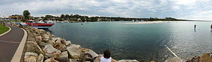 Huskisson, New South Wales - Panorama of Currambene Creek, Huskisson, NSW