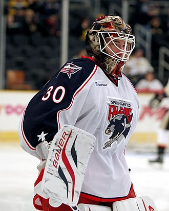 Curtis McElhinney - McElhinney with the Springfield Falcons