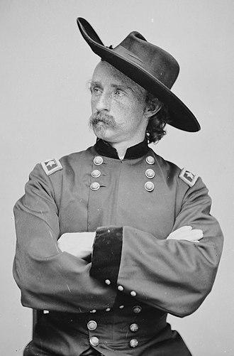 Battle of Dinwiddie Court House - Brigadier General (Brevet Major General) George Armstrong Custer
