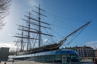 <i>Cutty Sark</i> British clipper ship, on display at Greenwich, England