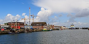 Cuxhaven - The fishing harbour by the Fischmarkt