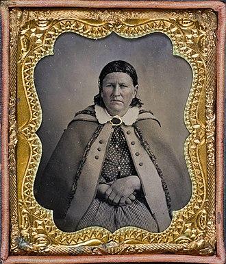 Cynthia Ann Parker - Tintype, 1861.