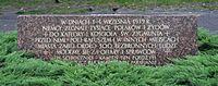 Częstochowa - plaque near cathedral 01.jpg