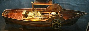 Steamboat - Model of steamship, built in 1784, by Claude de Jouffroy.